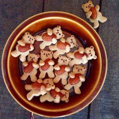 Hugging nut bear cookies