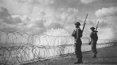 Fight on the beaches - On 4 June 1940, as the Dunkirk evacuations drew to a close, Winston Churchill delivered a thrilling speech to the House of Commons. He looked back at the miraculous rescue of the British Expeditionary Force from France, and urged on the fight for Britain's future.    Photo: Armed soldiers stand guard on a south coast beach, 2 September 1940.