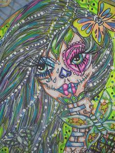Skullerflies Close Up  by Terri Allbright