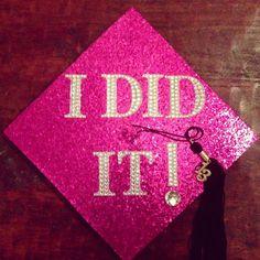 DIY Graduation Cap! Love the bedazzle! #DIY #GraduationCap