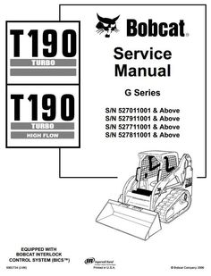 Bobcat s150 s160 turbo skid steer loader parts manual pdf bobcat bobcat crawler skid steer loader t190 sn 5270527752785279 11001 and up service manual circuit diagramrepair asfbconference2016 Choice Image