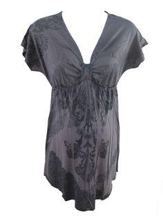 Cora Top in Gray by Espresso Maternity - Maternity Clothing - Flybelly Maternity Clothing