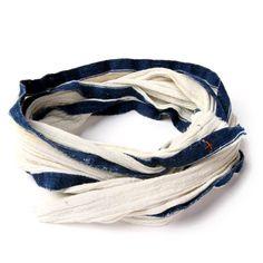 I+W indigo selvedge scarf