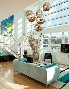 High ceilings, glass, natural light = fantastic!