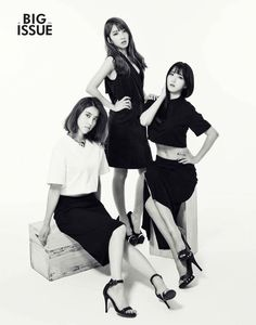 Rainbow Hyun Young, Ji Sook and No Eul - The Big Issue Magazine July Issue 14