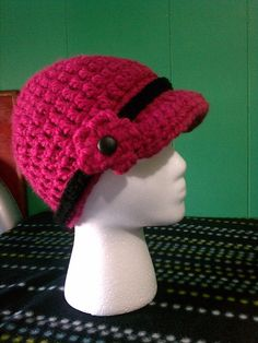 Chunky billed hat or newsboy hat. Love it!!