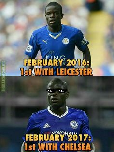 It makes you wonder. does Kante ever stop running? Funny Football Memes, Leicester, Beast, Chelsea, Baseball Cards, Running, Sports, Hs Sports, Funny Soccer Memes