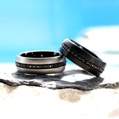 Have you seen what our customers have been loving this summer? Explore our Summer Best Sellers today and enjoy 15% until 8/15, Code: SUMMER15. Don't wait to take advantage of this deal and finally get the ring you've been dreaming of! Tungsten Wedding Rings, Best Sellers, Wedding Bands, Rings For Men, Jewels, Explore, Summer, Black, Men Rings
