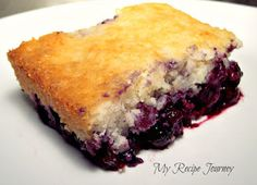 3 Ingredient Blueberry Cobbler! Frozen Blueberries, Lemon Cake Mix, Can Of 7Up...Easy Peasy!! I made this for my family reunion, it was delicious and was a huge hit!!