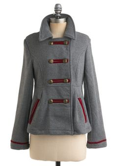 I love coats.  I love the color grey.  I love that this jacket is made out of sweatshirt material.  Clearly, I must have it!