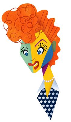 davidcowlesillustrations:Lucille Ball  THE BRILLIANT WORK Of David Cowles  Notice the detail! ugh, brilliant
