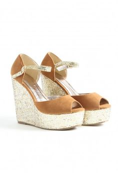 Gorgeous and sparkly wedges