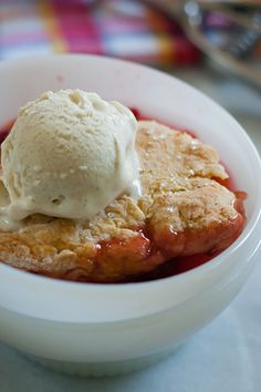 Peaches, apricots, nectarines and plums make great filling for this Stone Fruit and Raspberry Cobbler.