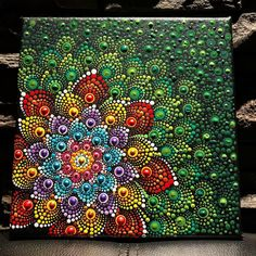 I'm really enjoying painting on canvas. I will definitely be doing more. #DOT_TOBER #mandalaart #dotsoncanvas #dotwork #dotsobsession #mandalas #paintings #dotpainting #loveofpainting