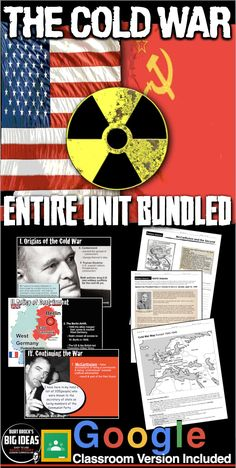 The Cold War Unit Bundled includes Cold War PowerPoints with short video links, primary source readings, maps, and assessment/test, all bound together by daily lesson plans. Unit also includes a Kahoot! online review game tailored for the exam, and an assessment/test. #HistoryLessonPlans #socialstudies #AmericanHistory #USHistory #Highschoollessons #DistanceLearning #Remotelearning Teaching American History, American History Lessons, Teaching History, History Lesson Plans, Daily Lesson Plan, Map Activities, Cold War, Social Studies, United States