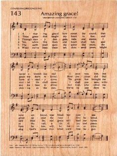 Amazing Grace Sheet Music 5 x 7 Cherry Wood Engraved Hymnal Page Plaque Church Songs, Church Music, Christian Song Lyrics, Christian Music, Praise Songs, Worship Songs, Gospel Music, Music Lyrics, Spiritual Songs