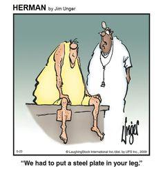 Herman Cartoon, Herman Comic, Hospital Humor, Witty Remarks, Art Jokes, Nurses Week, Twisted Humor, Puns, Yoga Poses