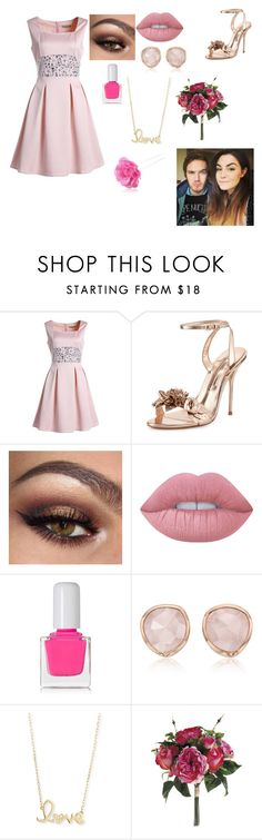 """""""(bridesmaids) Marzia and Felix's wedding"""" by danhowellsllama ❤ liked on Polyvore featuring Sophia Webster, Lime Crime, tenoverten, Monica Vinader, Sydney Evan and Chicnova Fashion"""