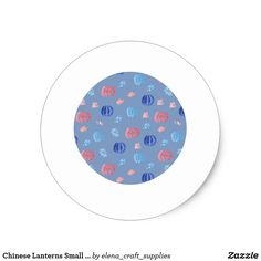 Chinese Lanterns Small Glossy Round Sticker