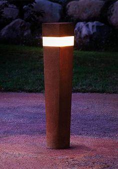 Etna -  BOLLARD LIGHT - garden bollard light - bespoke outdoor lighting - modern…