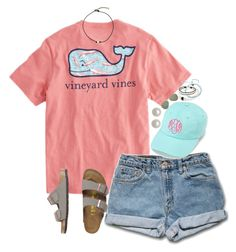 """LYDIA'S CONTEST DAY 1!⚓️"" by isabella813 ❤ liked on Polyvore featuring Vineyard Vines, Birkenstock, Honora, One Button, NOVICA, Ray-Ban and lydscruise2016"