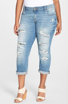 Lucky Brand Lucky Brand 'Reese' Boyfriend Distressed Jeans (San Marcos) (Plus Size) available at #Nordstrom