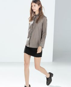 ZARA - NEW THIS WEEK - SHIRT WITH CONTRASTING PIPING