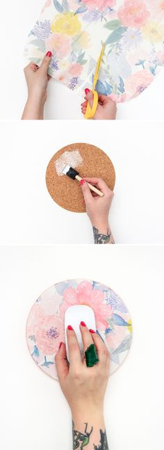 DIY mousepad | dorm decor | dorm DIY | easy DIY | crafts | college | desk | cute desk ideas | 14 Cheap But Cute Dorm Room DIYs