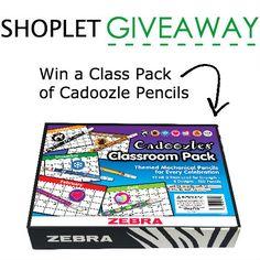 Win a Class Pack of Cadoozle Pencils. http://blog.shoplet.com/giveaways/win-a-class-pack-of-cadoozle-pencils/