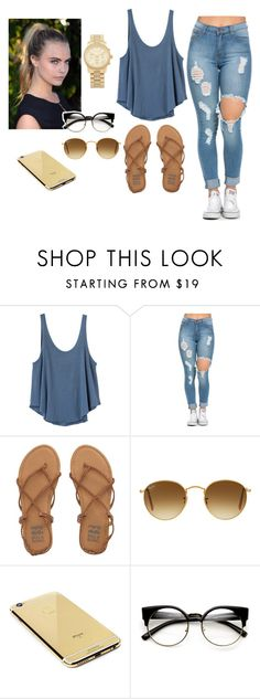 """""""Untitled #525"""" by anasofiasousavieira on Polyvore featuring RVCA, Billabong, Ray-Ban, Goldgenie and Michael Kors"""