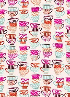 [Tea Cups Wrapping Paper] from Paper Source