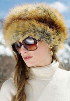 957769bc5741a 2013 Premium Sable Faux Fur Hat for girls . Golden Fox Faux Fur Russian Hat
