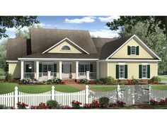 COOL house plans offers a unique variety of professionally designed home plans with floor plans by accredited home designers. Styles include country house plans, colonial, Victorian, European, and ranch. House Plans And More, New House Plans, Country Style House Plans, Country Style Homes, Southern Style, Southern Charm, Monster House Plans, Design Furniture, Next At Home
