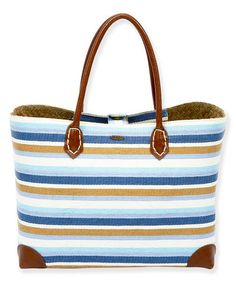 7a0d18ea672b Look what I found on #zulily! Blue & Brown Stripe Tote #zulilyfinds