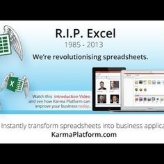 #Karma #websummit #startup turn spreadsheets into customised business apps