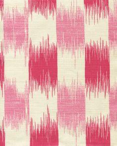 Quadrille Ikat Magenta and Pink