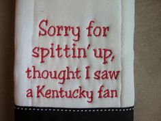 University of Louisville Burp Cloth by CoughlinCrafts on Etsy, $12.99