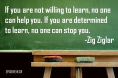 If you are not willing to learn...