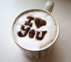 DIY coffee stencil