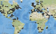 """io9: """"Interactive map shows all the spots on Earth that have been photographed from the ISS"""""""