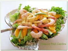 Prawn, Mango and Avocado Salad with Coconut Dressing | Passion Fruit Garden