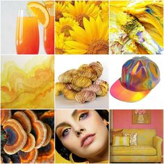 Mood Board Monday - Mimosa by Tanis Fiber Arts Tanis Fiber Arts, Yarn Colors, Art Blog, Color Trends, Rainbow Colors, Color Inspiration, Eye Candy, Stuffed Mushrooms, Mood Boards