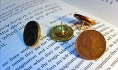 Yaansoon | Handcrafted Personal Objects | Coin pushpins... found objects turned into quirky office & craft-room supplies
