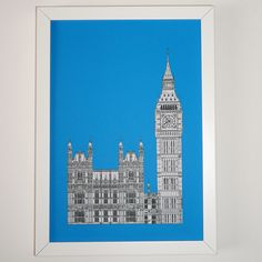 Picture of London, London Print, London Art, Big Ben drawing, London illustration, art print, England, Illustration of London by PeonyandThistle on Etsy https://www.etsy.com/listing/244529684/picture-of-london-london-print-london