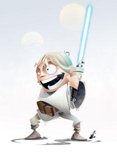 Very Cool STAR WARS HEROES Character Art — GeekTyrant