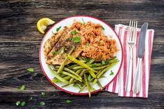Italian-Spiced Chicken with Tomato Rice and Roasted Green Beans  Recipe | HelloFresh