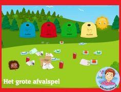 Het grote afvalspel voor kleuters  op digibord of computer  op kleuteridee.nl, Kindergarten educative game for IBW or computer