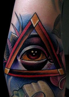 Tattoos - Jonathan Montalvo - all seeing eye tattoo