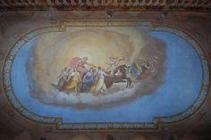 Villa di Delizia In the hall vault is portrayed the Aurora, an exact copy of Guido di Reni's fresco: the original, located in Pallavicini Rospigliosi Palace in Rome.
