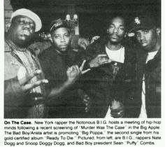 Before the Bad Boy/Death Row fallout... R.I.P. Biggie Smalls! R.I.P. Nate Dogg!